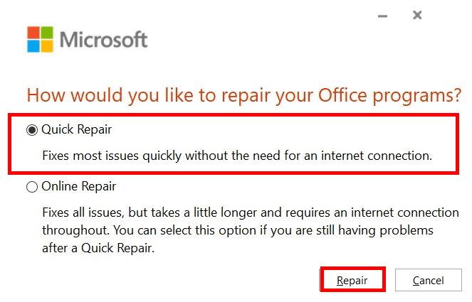 Word non si apre: ripristinare l'app Office